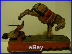 Antique Cast Iron Always Did Spise a Mule Mechanical Bank Stevens Co Pat. 1879