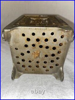 Antique Cast Iron Bank Jewel Safe Ornate Original 19th Century
