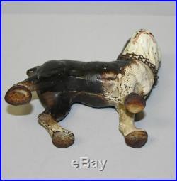 Antique Cast Iron Boston Terrier dog Still Coin Bank Vindex