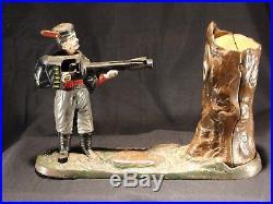 Antique Cast Iron Grenadier Mechanical Bank Pat. D Feb 2 1875 Original