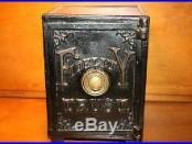 Antique Cast Iron Huge Childs Combo Safe Bank Original Patd. Works c 1885