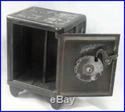 Antique Cast Iron Ideal Safe Deposit coin bank