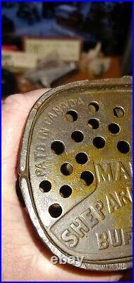 Antique Cast Iron Jolly African Man Bank Shepherd's Hardware 1880s Cast Iron