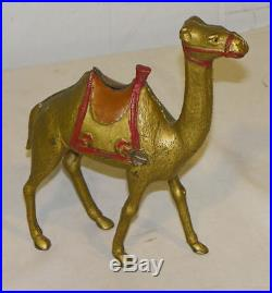 Antique Cast Iron Large Figural Toy Camel Still Bank Large Size