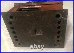 Antique Cast Iron Mechanical Bank Stump Speaker Black Americana Politician