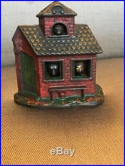 Antique Cast Iron Mechanical ZOO Bank Kyser & Rex Frankford Pennsylvania C1890