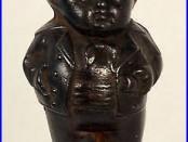 Antique Cast Iron Middy Bank Boy c1880s