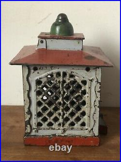 Antique Cast Iron Old Toy Hall's Excelsior Bank Working