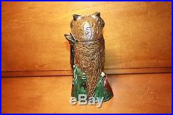 Antique Cast Iron Owl Turns Head Mechanical Bank by J & E Stevens cir. 1881 Mint