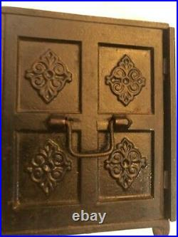 Antique Cast Iron Security Safe Bank