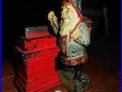 Antique Cast Iron Shepard Hardware Mechanical Santa Claus Bank-Working c. 1890