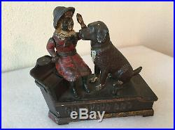 Antique Cast Iron Speaking Dog Mechanical Bank Ca. 1885