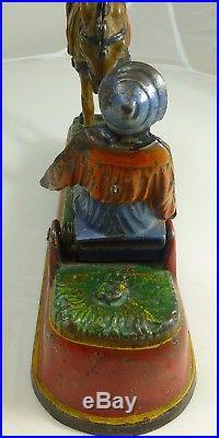 Antique Cast Iron Spise A Mule Mechanical Bank J E Stevens Black Americana 1897