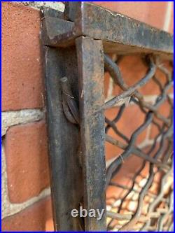 Antique Cast Iron & Steel Garden Fence Gate Salvage Bank Bldg Architecture #3