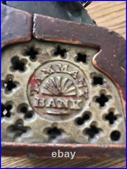 Antique Cast Iron Tammany Mechanical Bank Dec 23 1873