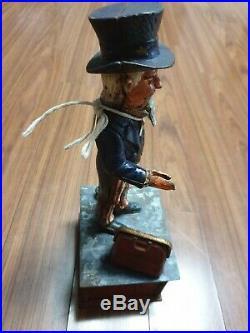 Antique Cast Iron Uncle Sam Mechanical Bank Shepard Hardware Pat June 8 1886