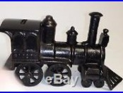 Antique Cast Iron original SAFETY LOCOMOTIVE BANK made in US c1887 rated a D