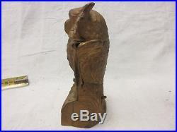 Antique Cast iron Mechanical Owl Bank 1880's Stevens READ DESCRIPTION
