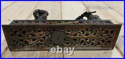 Antique Darktown Battery Cast Iron Mechanical Bank J & E Stevens Co