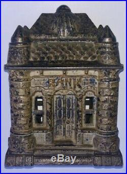 Antique Four Tower Cast Iron Still Bank Building J&E Stevens ORIGINAL 1895-1906
