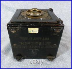 Antique Henry C. Hart 1885 Safe Deposit Cast Iron Still Bank