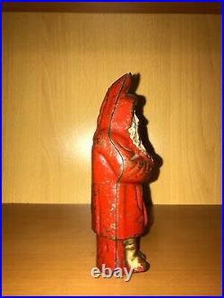 Antique Hubley Cast Iron 5 3/4 Inch Tall SANTA CLAUS withTREE Still Bank REDUCED