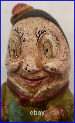 Antique Humpty Dumpty Cast Iron Bank in Great Condition. Measures 5 1/2