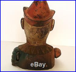 Antique Humpty Dumpty Mechanical Bank Cast Iron