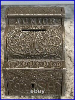Antique J&E Stevens Cast Iron Junior Cash Register Still Bank! Great Co