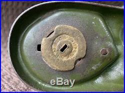 Antique J & E Stevens Creedmore Cast Iron Mechanical Coin Bank