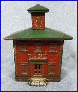 Antique J. E. Stevens Large Size Cupola Cast Iron Still Bank
