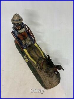 Antique Je Stevens Cast Iron Mechanical Bank Bad Accident Original 19th Century