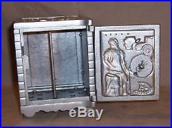 Antique Kenton Cast Iron Still Bank The Bank Of Industry Safe Combination Lock