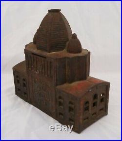 Antique Kenton World's Fair 1893 Administration Building Cast Iron Still Bank