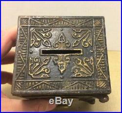 Antique Keyser & Rex Cast Iron Security Safe Deposit Bank #200 PAT 1888 1887