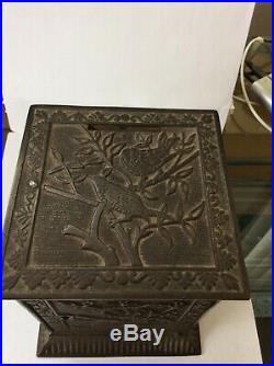 Antique Kyser & Rex c. 1882 Cast Iron Bank JAPANESE SAFE Still Bank W Key