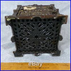 Antique Large Sized Fidelity Trust Vault Cast Iron Still Bank c. 1890