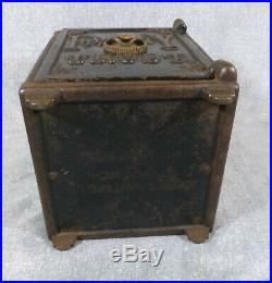 Antique Massive Henry C. Hart 1885 Fidelity Trust Cast Iron Still Bank
