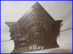Antique Nickle Cast Iron National Recording Building Mechanical Workin Dime Bank