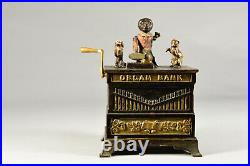 Antique Organ Grinder Cast Iron Mechanical Bank Pat. May 31, 1881 Kyser & Rex