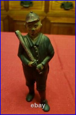 Antique Original 1920's A C Williams Baseball Player Cast Iron Still Bank