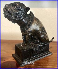 Antique Original Bulldog Mechanical Cast Iron Bank