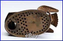 Antique Original Cast Iron 1883 J & E Stevens Eagle & Eagles Mechanical Bank