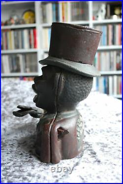 Antique Original JOLLY MAN BANK 19th Century Cast Iron Money Box