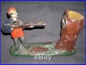 Antique, Original J&E Stevens Creedmore Cast Iron Mechanical Bank, Fully Working