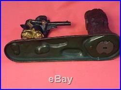 Antique Original J & E Stevens New Creedmoor Cast Iron Mechanical Bank