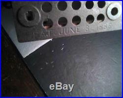 Antique Original STUMP SPEAKER Cast Iron Mechanical Bank by Shepard June 8,1886
