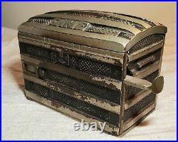 Antique Phoenix The New Improved Registering Trunk Dime Bank Patent April 7,1891