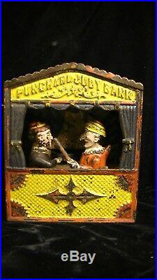 Antique Punch & Judy Mechanical Bank By Shepard Hardware Co. Pat'd 1884
