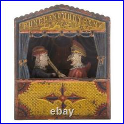 Antique Punch and Judy Mechanical Cast Iron Bank Shepard Hardware 1884